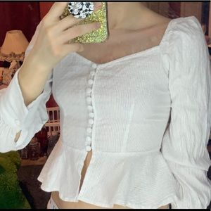 SHEIN Tops - White button long sleeve